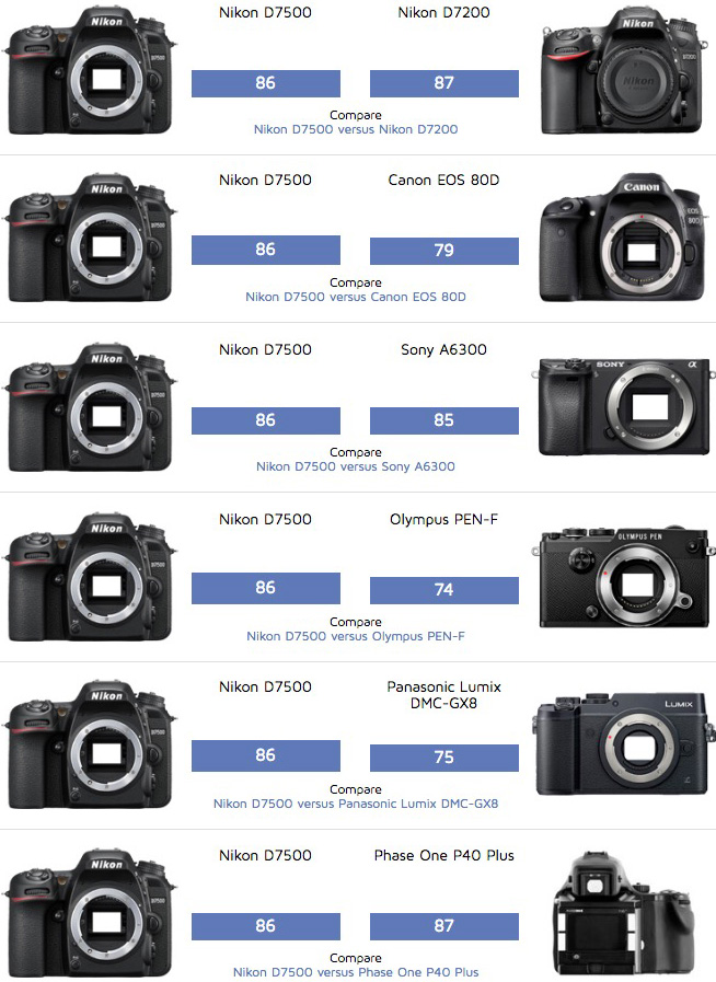 Nikon D7500 DxOMark Tested | Nikon Rumors CO