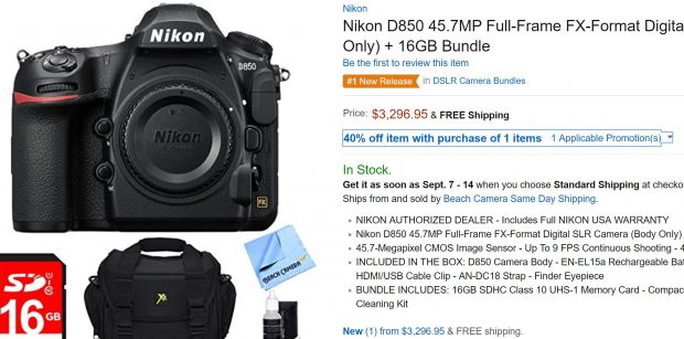 Update] These Nikon D850 Bundles are Guaranteed Shipping Before ...