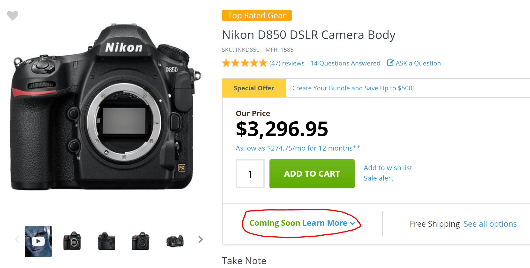 Adorama now Shipping D850 Cameras Pre-ordered on December 26th ...
