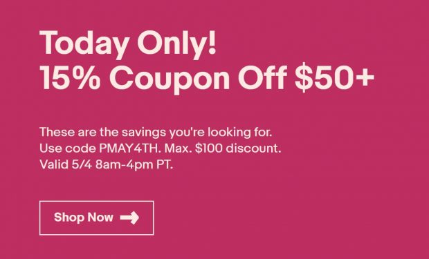 Today Only 15 Coupon Off Up To 100 On Everything At Ebay Nikon Rumors Co