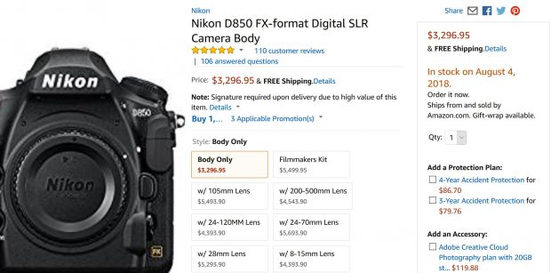 Nikon D850 In Stock / Availability Tracker | Nikon Rumors CO